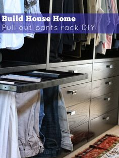 Learn How to Build a Pull-Out Pants Rack