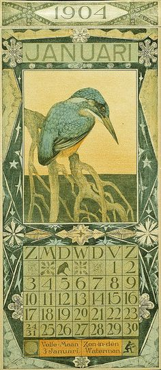 Kalender by Theo van Hoytema, 1904. ~via Gemeentemuseum Den Haag, Flickr