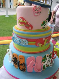 Flip Flop cake. I love this! :0)