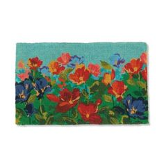 The brilliant blooms of gorgeous wildflowers are backed by the strength of natural coir fibers in our exclusive Wildflowers Coco Mat. Hand-woven to 1-1/2 high, the tough bristles stand up to the outdoor elements.            The floral scene is hand-stenciled using fade-resistant dyes, with complete coverage that leaves no natural coco visible                Thousands of tightly woven, bristly coir fibers trap dirt and moisture and stand up to heavy use                Frontgate exclu...