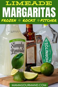 An easy Limeade Margarita is the world's best margarita recipe without any work or prep! Enjoy it on the rocks, frozen, or a big batch perfect for easy entertaining at parties. Margarita Recipe For A Crowd, Lime Margarita Recipe, Limeade Recipe, Perfect Margarita Recipe On The Rocks, Best Margarita Recipe Frozen, Fun Cocktails, Summer Drinks, Limeade Margarita, Margarita Party