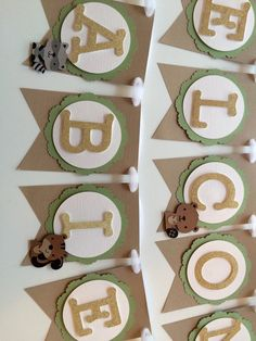 Welcome Baby Woodland Animal Banner!  For one baby or several! Add this adorable woodland animal banner to your baby shower. With a baby deer, fox, skunk, squirrel, and beaver. Please be sure to choose baby or babies!  DETAILS: - Welcome Babies or Baby - Fox, Deer, Squirrel, Beaver, & Skunk - Each Pennant around is 3.8 x 5 - Strung on White Tulle This item will be shipped two day priority mail!  If you are interested in a different phrase or color way please let us know