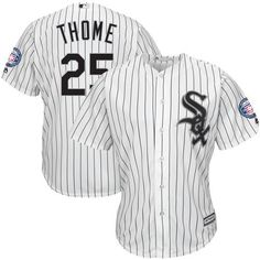 9248a0503 Jim Thome Chicago White Sox Majestic Hall of Fame Induction Patch Cool Base  Jersey - White Black