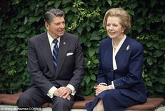 Remembering Margaret Thatcher. Great pics in this article! Allies at Ease: President Ronald Reagan meets with British Prime Minister Margaret Thatcher during an economic summit meeting in Venice, Italy in 1987