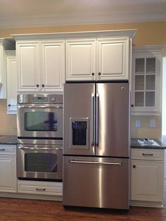 Wall Oven Thermal Fuse Wall Oven And Steam Double Oven Kitchen, Kitchen Oven, New Kitchen, Kitchen Dining, Kitchen Decor, Kitchen Ideas, Modern Kitchen Cabinets, Kitchen Layout, Kitchen Appliance Storage