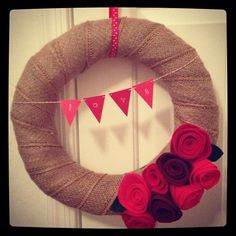 Valentines Day crafting - first attempt ever making a wreath and felt flowers by Simply Sweets, via Flickr