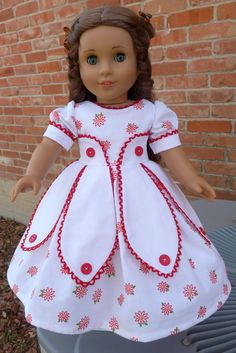 "18"" Doll Clothes Historical Civil War ""Petal Dress"" Fits American Girl Marie Grace, Cecile, Addy. $32.95, via Etsy."