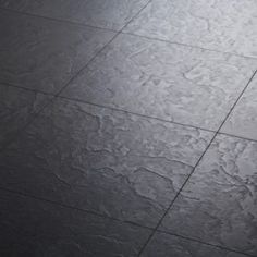 Black Slate Tile Effect Laminate Flooring For Kitchens