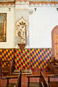 San Xavier Interior, Tucson, AZ. → For more, please visit me at: www.facebook.com/jolly.ollie.77