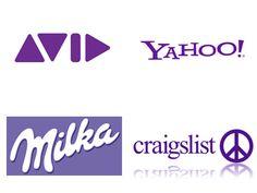 Sociétés utilisant le Violet dans leurs Logos. http://designer-blog.studiokarma.fr/quelles-couleurs-choisir-pour-votre-logo/