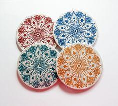Mandala Coasters, Drink Coasters, Hostess Gift, Tableware, cork backing, Mandala, Oriental, Housewarming Gift, Wine Accessories (7407) by KellysMagnets on Etsy
