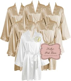 5358db9487 SALE Free Bridal Robe Offer Ships in 10 Days Champagne Satin Personalized  Set of 6 SATIN
