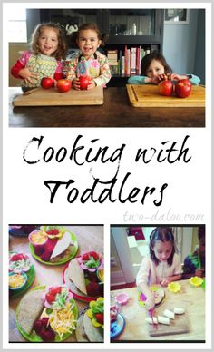 Cooking with Toddlers and Preschoolers- have them help prepare. Give them tips on cutting, peeling, slicing different foods. Explore textures, tastes, tenderness and much more.