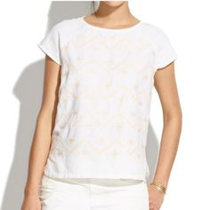 Madewell | Linen Sandwave Top Slightly loose fit top in breathable linen. Never been worn Madewell Tops Tees - Short Sleeve