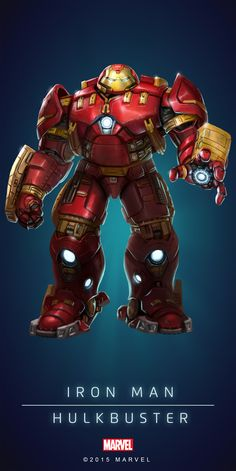 (HulkBuster In: Marvel Puzzle Quest!) By: Amadeus. Marvel Comics, Marvel Fanart, Heros Comics, Marvel Comic Universe, Marvel Heroes, Marvel Cinematic, Marvel Avengers, Captain Marvel, Comic Movies