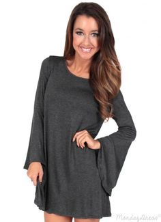 Shadows Fall Dress in Charcoal | Monday Dress Boutique