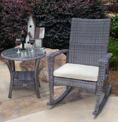 Bayview Wicker Rocking Chair - Driftwood