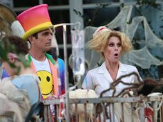 Pin for Later: The Modern Family Cast Celebrates Halloween Really Early Julie Bowen (Claire) and Ty Burrell (Phil) got into character.