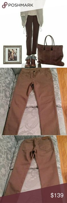 """Brunello Cucinelli jeans Amazing brand, amazing design and quality.  Love everything about these jeans. The color is very neutral and versatile. In excellent condition. 14"""" waist. Inseam 27"""" Brunello Cucinelli Jeans Ankle & Cropped"""