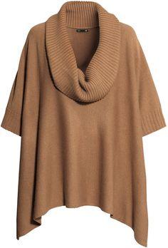 H&M - Knit Poncho - Camel - Ladies