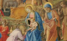 Fra Angelico — The Adoration of the Mag (Detail) (c. 1440 - 1460) National Gallery of Art, Washington DC