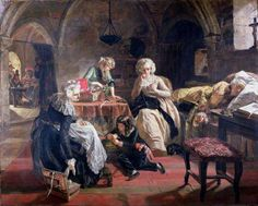 The Royal Family of France in the Prison of the Temple, 1851 by Edward Matthew Ward (British 1816-1879)