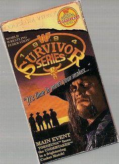 WWF Survivor Series 1994 VHS Video
