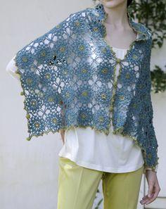 ao with <3 / NO pattern. Inspiration shawl crochet one, wear it many.