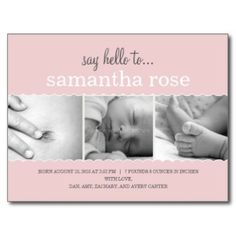 Baby Announcements Postcards