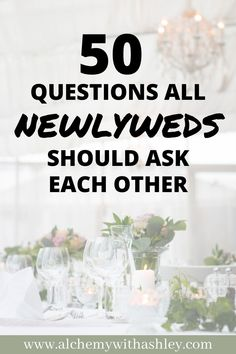 50 questions all newlyweds should ask each other. Marriage advice | Marriage tips | Healthy relationships | Marriage questions | Dating advice | How to have a healthy marriage | Good communication skills | Personal development prompts | Honeymoon | Newlyweds | Just married | Strengthening bonds | Questions to bring you closer together | Happy relationships | Question game for couples | Ask your spouse.