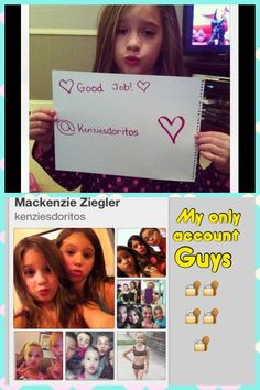 Just to prove to you that I'm the real Kenzie and only Kenzie Ziegler on here from dancemoms