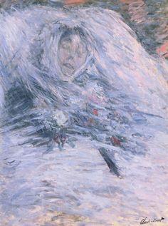 Camille Monet sur son lit de mort (C Monet - W 543),1879