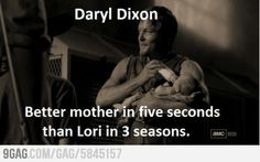 Daryl as Mom of the year! The Walking Dead