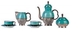 Service à Café - Porcelaine et Argent - 1934-35