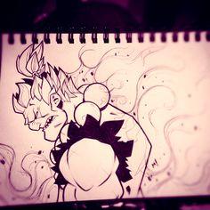 Street Fighter Sketches: Gouki by Zatransis.deviantart.com