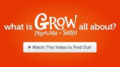 "GROW · PROCLAIM · SERVE is the new version of ""One Room Sunday School"" and ""Live BIG."" Quarterly curriculum for babies thru 7 & up focused on bible stories."