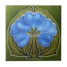 AN019 Art Nouveau Reproduction Antique Tile