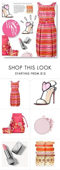 """""""Love & Hate..."""" by desert-belle ❤ liked on Polyvore featuring P.A.R.O.S.H., Christian Louboutin, Marina Hoermanseder, Burberry, Old Navy, christianlouboutin, parosh, polyvoreeditorial and dreamydresses"""