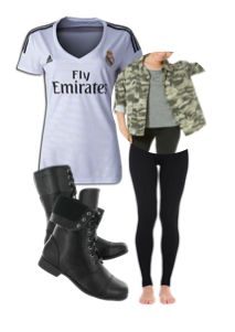 30337f62b579 Real Madrid Jersey Outfit  soccer  women Zapatos De Fútbol