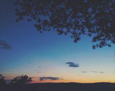 Amazing landscape at sunset