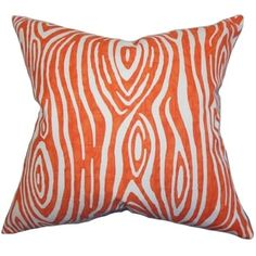 Shop for Thirza Swirls Tangerine Feather Filled 18-inch Throw Pillow. Get free shipping at Overstock.com - Your Online Home Decor Outlet Store! Get 5% in rewards with Club O! - 16284363