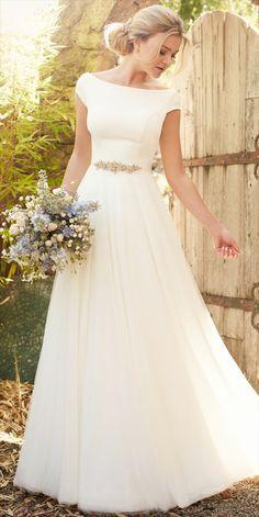 # for # wedding dress - Sommer Kleider Ideen Wedding Dress With Pockets, Cute Wedding Dress, Modest Wedding Dresses, Bridal Dresses, Christian Wedding Gowns, Marriage Dress, The Dress, Ball Gowns, Bride
