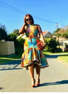 Beautiful And Trendy Ankara Designs Short African Dresses, Latest African Fashion Dresses, African Print Dresses, African Print Fashion, African American Fashion, Chitenge Outfits, South African Traditional Dresses, African Print Dress Designs, Ankara Designs