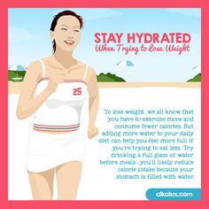 Stay Hydrated When Trying to Lose Weight Visit our website: http://www.alkalux.com