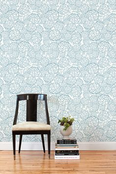 Our removable wallpaper tiles can be reused and are easy to remove - ideal for renters and temporary installations. Our tiles are sold in sets of two tiles. Tiles are made to order and are non-ret Removable Wallpaper For Renters, Temporary Wallpaper, Renters Wallpaper, Blue Tiles, White Tiles, Hygge And West, Decorating Your Home, Diy Home Decor, Decorating Ideas