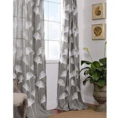 @Overstock - This luxuriously embroidered panel is designed to instantly transform any room into a spectacular space. This eye-catching window treatment provides elegant detailing for a sophisticated look.  http://www.overstock.com/Home-Garden/Ginko-Leaf-Slate-Crewel-Embroidered-Faux-Linen-Curtain-Panel-96-inch/6201501/product.html?CID=214117 $47.99
