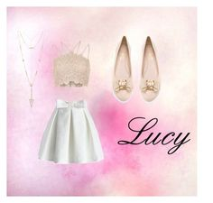Lucy 01 by tibbersinateacup on Polyvore featuring mode, River Island, Chicwish, Salvatore Ferragamo and House of Harlow 1960