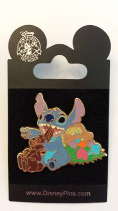 2007 Stitch Easter Disney Pin Trading Collectible Lapel Pins