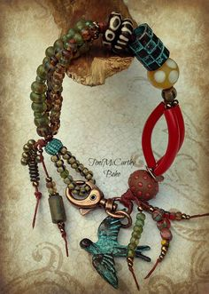 """Beads & Threads is where to go for """"What Women Buy for Themselves."""" Jewelry that is bright, colorful, and fun to wear--all handmade and original."""