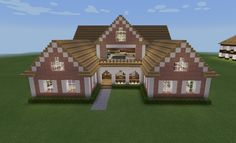 Minecraft Pink Realistic Country House Porch